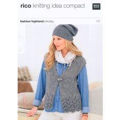 Cardigan and Waistcoat in Rico Design Fashion Highland Chunky (137) £2.99