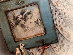 Handmade Wall interior decor with two hangers. Decoupage technique painting vintage looking Shabby chic Rustic style Rural idyll - Inese Vidovska on etsy