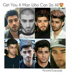 He can pull off any hairstyle One Direction Photos, One Direction Memes, Zyn Malik, Bad Boys, Cute Boys, Zayn Malik Images, Zayn Malik Hairstyle, Bae, Liam Payne