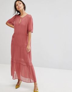 Gestuz Ayo Sheer Tiered Maxi Dress