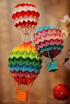 Its Origami Magic Ball Wonders Again Hot Air Balloons Are Flying In Our Studio Diagrams Book E