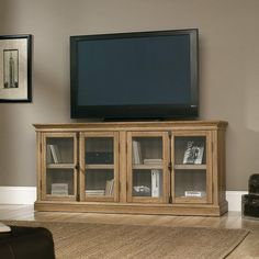 Sauder Barrister Lane Storage Credenza Tv Stand - Scribed Oak