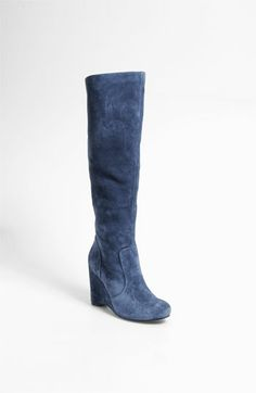 "These blue suede boots are spectacular for the Hill Country Wildflower style profile and color palette. Wear with skirts at the knee for day and up to 2"" above the knee at night (shorter if you're under 30)."