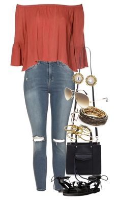 """""""Untitled #872"""" by manoella-f on Polyvore featuring Topshop, Glamorous, Rebecca Minkoff, Madden Girl, ABS by Allen Schwartz, Ray-Ban and Kendra Scott"""