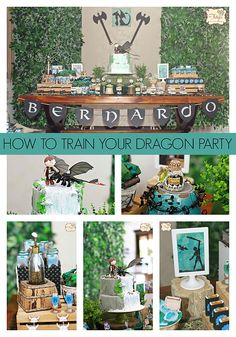Pin for Later: 55 Fun Themes For Your Boy's Next Birthday Bash! How to Train Your Dragon Party Dragon Birthday Cakes, Dragon Birthday Parties, Dragon Party, Birthday Bash, Birthday Party Themes, Cake Birthday, Birthday Ideas, Toothless Party, Viking Birthday