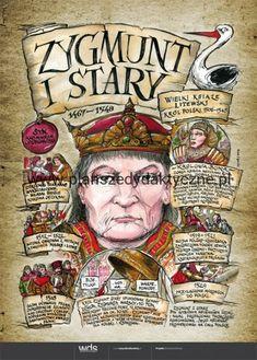 Zygmunt Stary – Poczet królów polskich Learn Polish, Poland History, Polish Language, Visit Poland, Warsaw, Education, School, Sketches, Kids