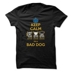 Keep calm i ღ Ƹ̵̡Ӝ̵̨̄Ʒ ღ am a bad dogIf you love dogs you will like this t-shirt.adopt,rescue,gimme shelter,shelter pet,shelter dogs,rescue dog,give a shelter pet a home,dog,lab,dog walking,pets,dog walker,animals, labrador,paw