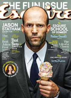 Jason Statham on the cover of Esquire, June 2015. Photo by Nigel Parry (via esquire.com).