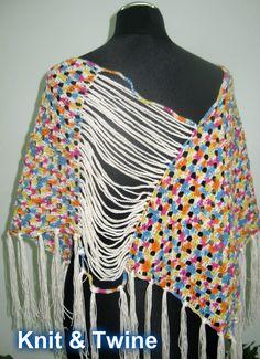 poncho de verão em crochet