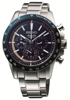 The new Seiko Ananta chronograph has a hand-painted lacquer dial in a deep blue, a color never previously achieved with lacquer.