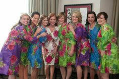 Real life Sample - Bridesmaids Robes made From E11 Fabric Pattern