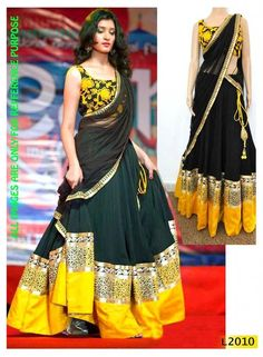 Sari Designer Indian Wedding Bridal Embroidery Bollywood Party Womens wear Saree #Handmade #Saree