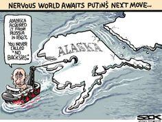 Sack cartoon: Ukraine … Alaska …   Star Tribune