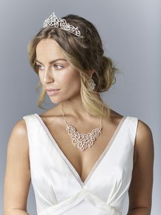 Add the perfect finishing touch to your dream wedding dress. Shop bridal hair accessories and tiaras, by Jon Richard.
