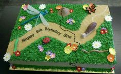 Garden & bug cake...What are the odds I can do something similar for Ethan's party?