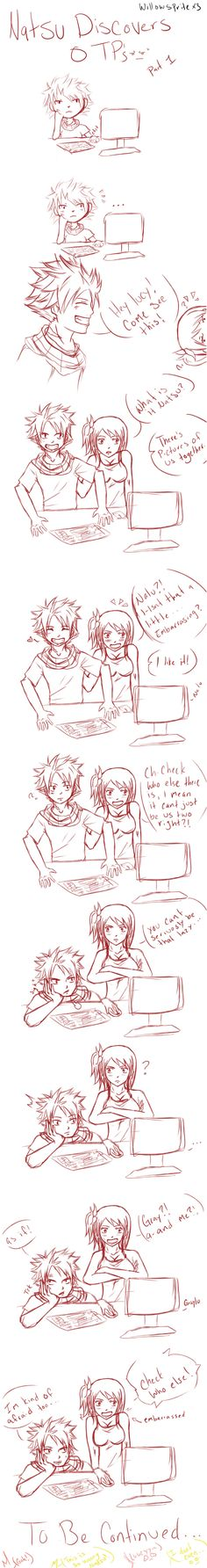 Natsu discovers OTP's - Nalu I by willowspritex3.deviantart.com on @deviantART || i need another part..