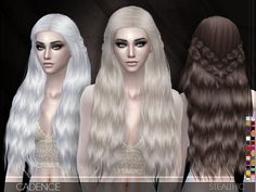 Cadence Hair by Stealthic at TSR via Sims 4 Updates Check more at http://sims4updates.net/hairstyles/cadence-hair-by-stealthic-at-tsr/