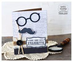 You're my FAVORITE!!! A fun mustache, glasses prop card