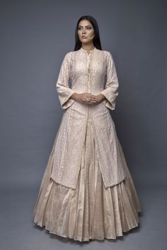 Anjul Bhandari- Aila Indian Gowns, Indian Attire, Indian Ethnic Wear, Indian Style, Pakistani Fashion Party Wear, Pakistani Dress Design, Pakistani Dresses, Designer Anarkali Dresses, Designer Dresses