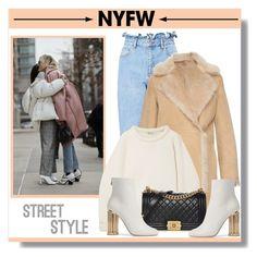 Designer Clothes, Shoes & Bags for Women Nyfw Street Style, Salvatore Ferragamo, Miss Selfridge, Python, Peony, Alexander Wang, Denim, Chanel, Polyvore