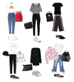 A fashion look from September 2017 featuring asymmetrical hem dresses, t shirts and pattern shirt. Browse and shop related looks. Miss Selfridge, Adidas Originals, Madewell, Yves Saint Laurent, Mango, Converse, Fashion Looks, School, Polyvore