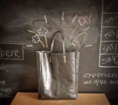 DIY: leather tote