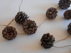 Save 20% on $20 or more through 12/14/14 - Use code HOLIDAY20  Pine Cone Rustic Twine Garland 10ft by midwooddesign on Etsy