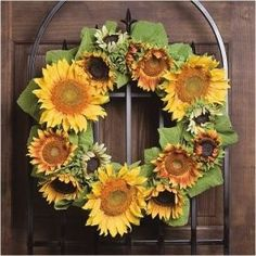 Summer Solstice:  Craft a sunflower wreath for the Summer Solstice.