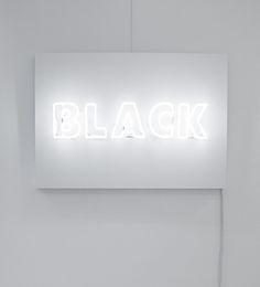 System by Rojo FUTURO, White neon light on white wood panel, 70cm x 100cm, 2012