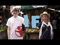 Charlie McDonnell (charlieissocoollike) and his mum (liliesarelike) in Tanzania, supporting the IF campaign by SaveTheChildren