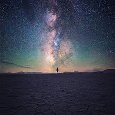 """Close Encounter"" Taken under the Milky Way in the Alvord Desert of Oregon."