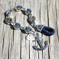 Anchor chain bracelet Nautical bracelet Nantucket por byMarisSal