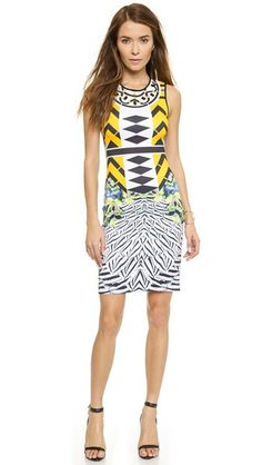 Clover Canyon Toucan Embellished Neck Dress