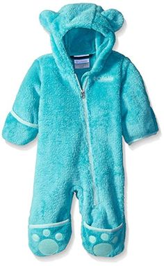 ce5080a0c Columbia Baby Girls' Foxy Baby II Bunting, Miami/Spray, Months: Cozy your  cub up in this ridiculously plush high-pile fleece bunting, featuring  fold-over ...