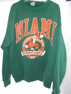 UNIVERSITY OF MIAMI HURRICANES SWEATSHIRT GREEN