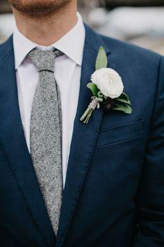 Knit gray tie - groom ideas!