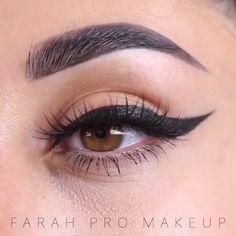 Easy Eye MakeUp Eyeliner Pro - make up ♡ - Accesorios para Maquillaje Dramatic Eye Makeup, Colorful Eye Makeup, Simple Eye Makeup, Makeup For Green Eyes, Simple Eyeliner, Maquillage Black, All Natural Makeup, Natural Eyeliner, Make Up Tutorials