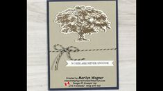 Rooted In Nature Sympathy Card - YouTube Bone Folder, Glue Dots, Sympathy Cards, Embossing Folder, Roots, Stampin Up, Happy Birthday, Make It Yourself, Videos