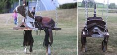 Horse And Saddle Swing http://www.handimania.com/craftspiration/horse-and-saddle-swing.html