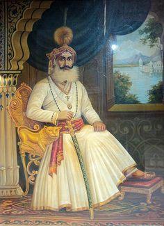 Khan Shid Ali, portrait of a ruler of Mewar