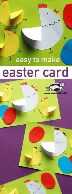 "Easy to make Easter card!! LOVE it ...Follow for FREE ""too-neat-not-to-keep"" teaching tools & other fun stuff! :)"