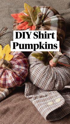 Fall Pumpkin Crafts, Autumn Crafts, Thanksgiving Crafts, Thanksgiving Decorations, Fall Pumpkins, Holiday Crafts, Fall Decorations Diy, Holiday Decor, Fabric Pumpkins