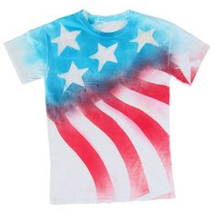 Stars & Stripes Forever T-shirt - This is a nice flag shirt. done with a resist, tape and spray dye.