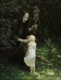 Dark, Fantasy, and Surreal Artwork from Deviant Artists Dark Fantasy Art, Dark Art, Fantasy Series, Arte Horror, Horror Art, Arte Obscura, Witch Spell, Illustration Art, Illustrations