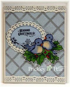 Prickley Pear Rubber Stamps; Vintage Christmas, Glitter, Inspiration Blooms