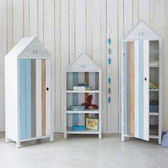 Armadio a forma di cabina da spiaggia per bambini OCÉAN