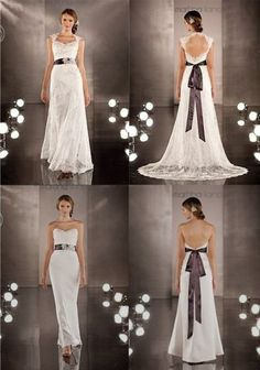 Convertible wedding dress! The outer lace layer can be removed to reveal a more pencil-skirt look. Wow!
