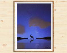 paper scenery https://www.etsy.com/it/listing/499119890/starry-night-paper-theater-series-print?ref=shop_home_active_1 #print #illustration #paper #etsy #print #madameprint #walldecor #printable #etsyshop #nursery