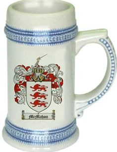 Mcmahon Coat of Arms / Family Crest stein mug - $21.99