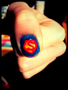 Nail art Super-Man !